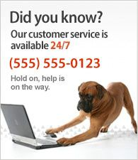 Onze klantenservices is beschikbaar 24/7. Neem contact op op 012 - 34567890