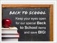 Let goed op de speciale Back to School items en bespaar geld!